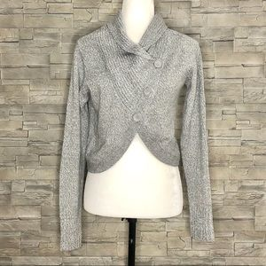 Only grey crossover cardigan